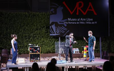El Museo de la Villa Romana de l'Albir ha acogido este fin de semana un espectáculo de magia