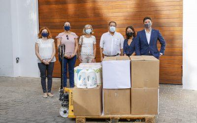 El Voluntariado Social de l'Alfàs agradece la donación realizada por el personal de Sha Wellness Clinic