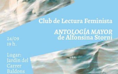 Este viernes el Club de Lectura Feminista de l'Alfàs analizará la obra 'Antología Mayor' de Alfonsina Storni