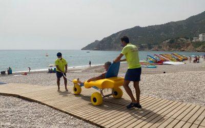 La playa del Albir ha sido accesible por primera vez este verano