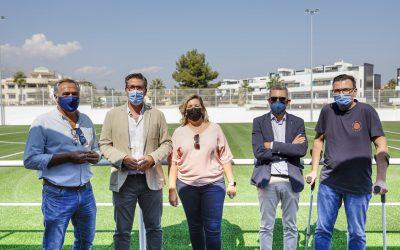Finalizan las obras del nuevo campo de fútbol 8 de césped artificial de l'Albir