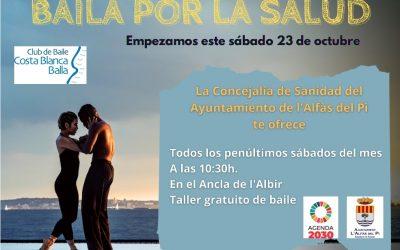 L'Alfàs pone en marcha este sábado un taller gratuito de baile en la playa de l'Albir