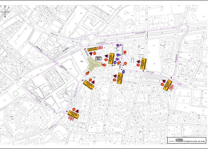El Ayuntamiento de l'Alfàs informa del corte y desvío de tráfico en la Rotonda de l'Albir por inicio de obras